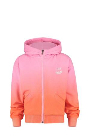 dip-dye vest Oneida donkerroze/oranje
