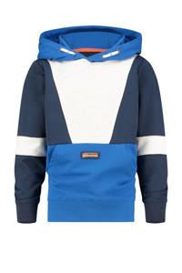 Vingino hoodie Naraio blauw/donkerblauw/wit, Blauw/donkerblauw/wit