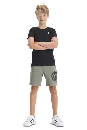 T-shirt Hisland met logo zwart