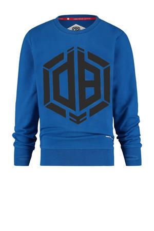 sweater Nimoro met logo hardblauw