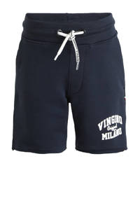 Vingino Essentials sweatshort met logo donkerblauw, Donkerblauw