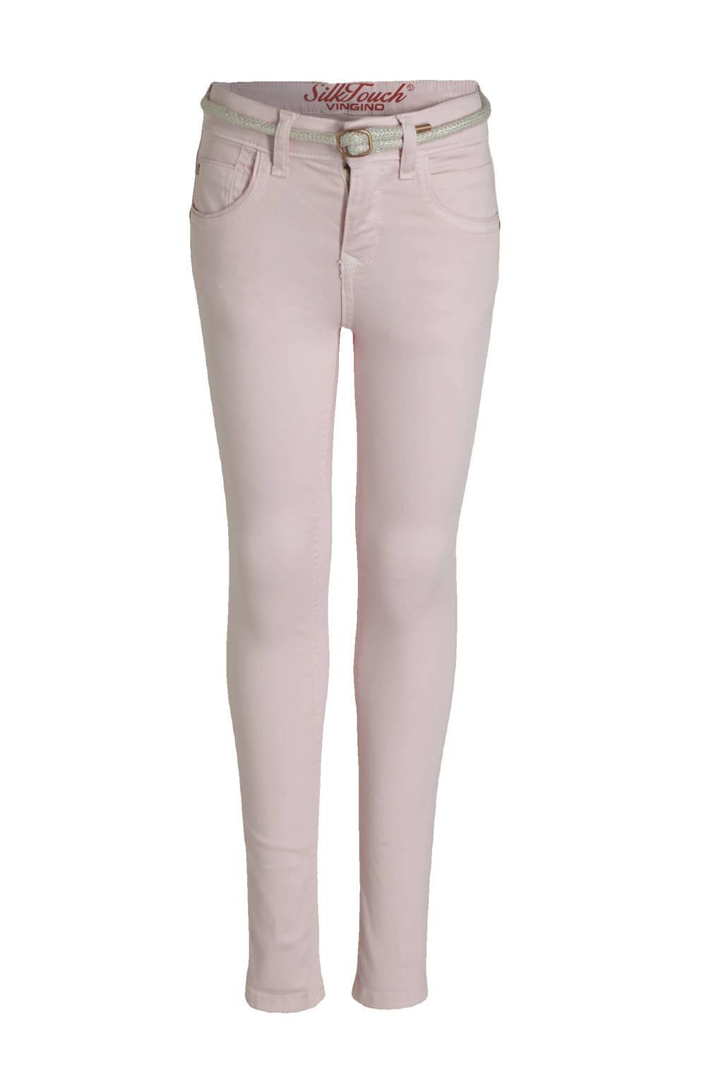 Vingino high waist super skinny jeans Belize Color lichtroze, Lichtroze
