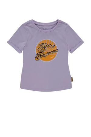T-shirt Hille met printopdruk lila