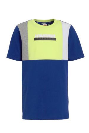 T-shirt Hannow met printopdruk blauw