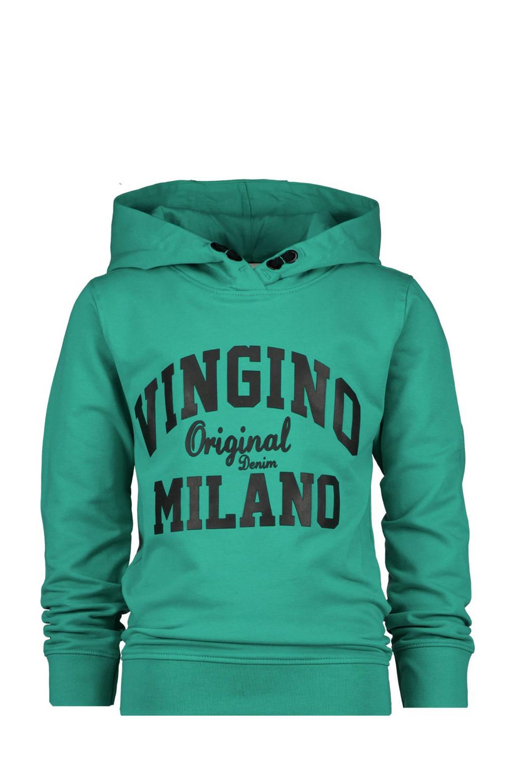 Vingino Essentials hoodie met logo zeegroen, Zeegroen