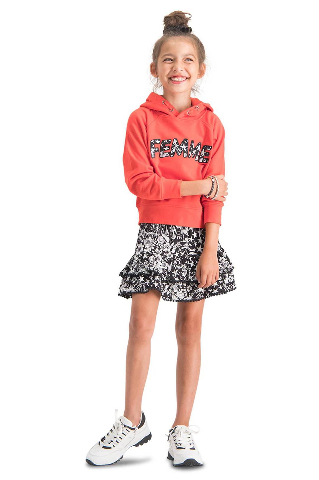 Vingino hoodie Nisa met tekst rood, Rood