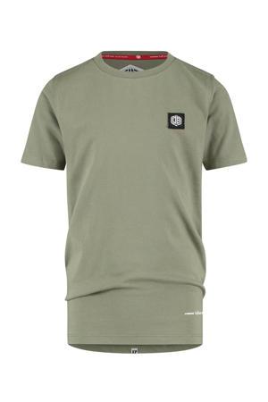T-shirt Hisland met logo licht armygroen