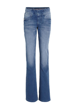 high waist flared jeans Britney electric blue