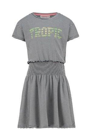 gestreepte jurk Palmira zwart/wit