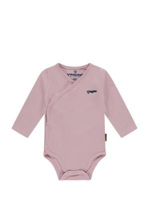newborn baby overslag romper Pia roze
