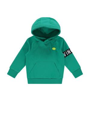 hoodie Nolan met printopdruk groen