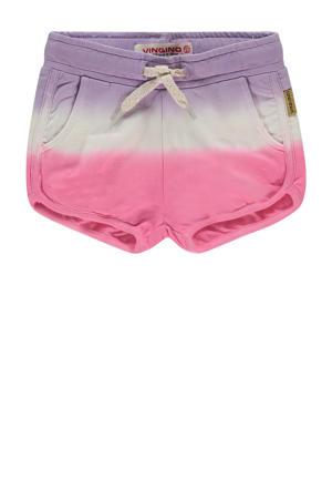 dip-dyesweatshort Rose lila/wit/roze