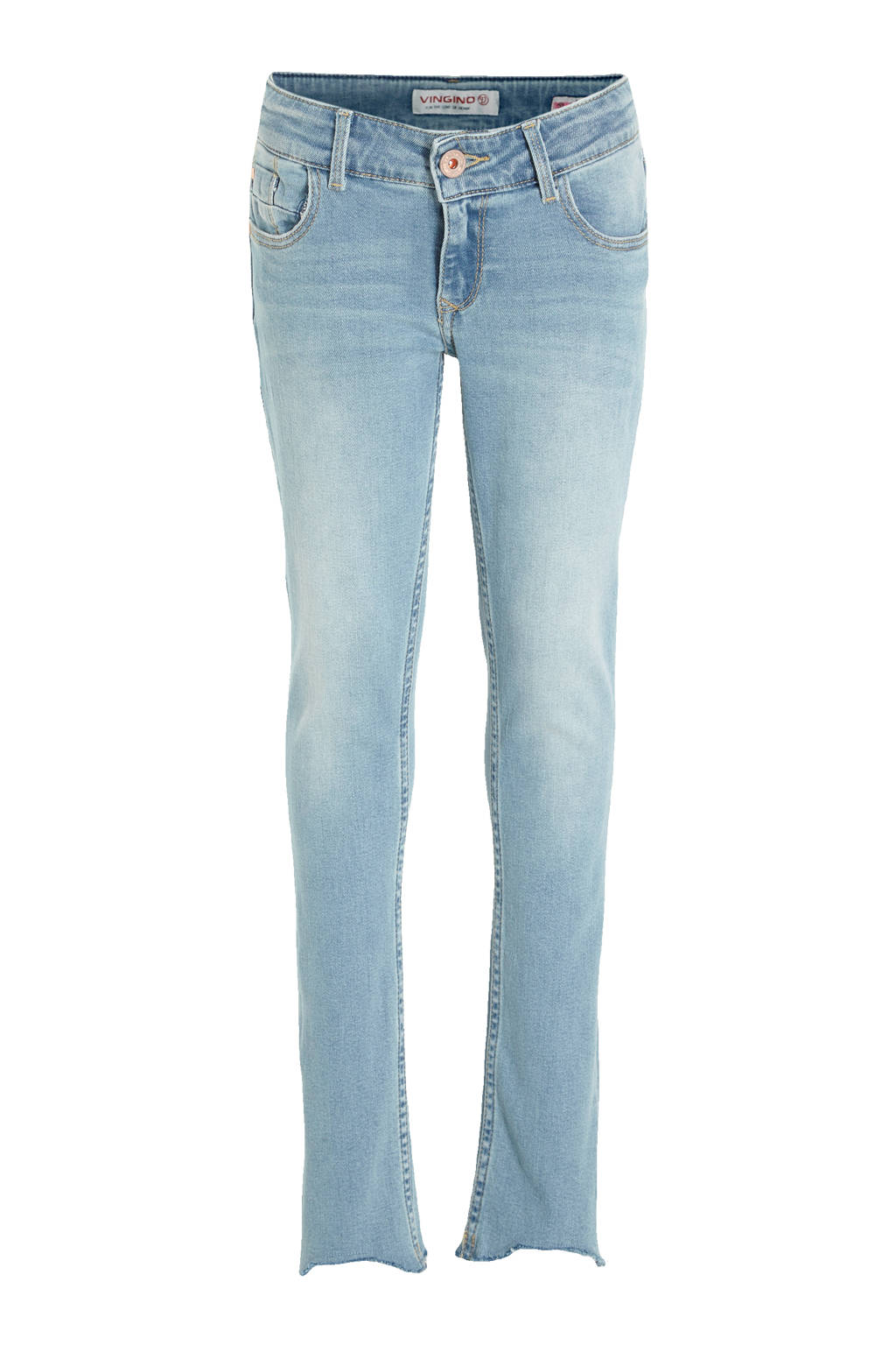 Vingino cropped high waist skinny jeans Amia Cropped light indigo, Light Indigo