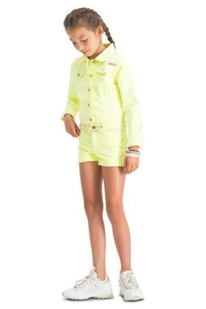 high waist short Belize neon geel