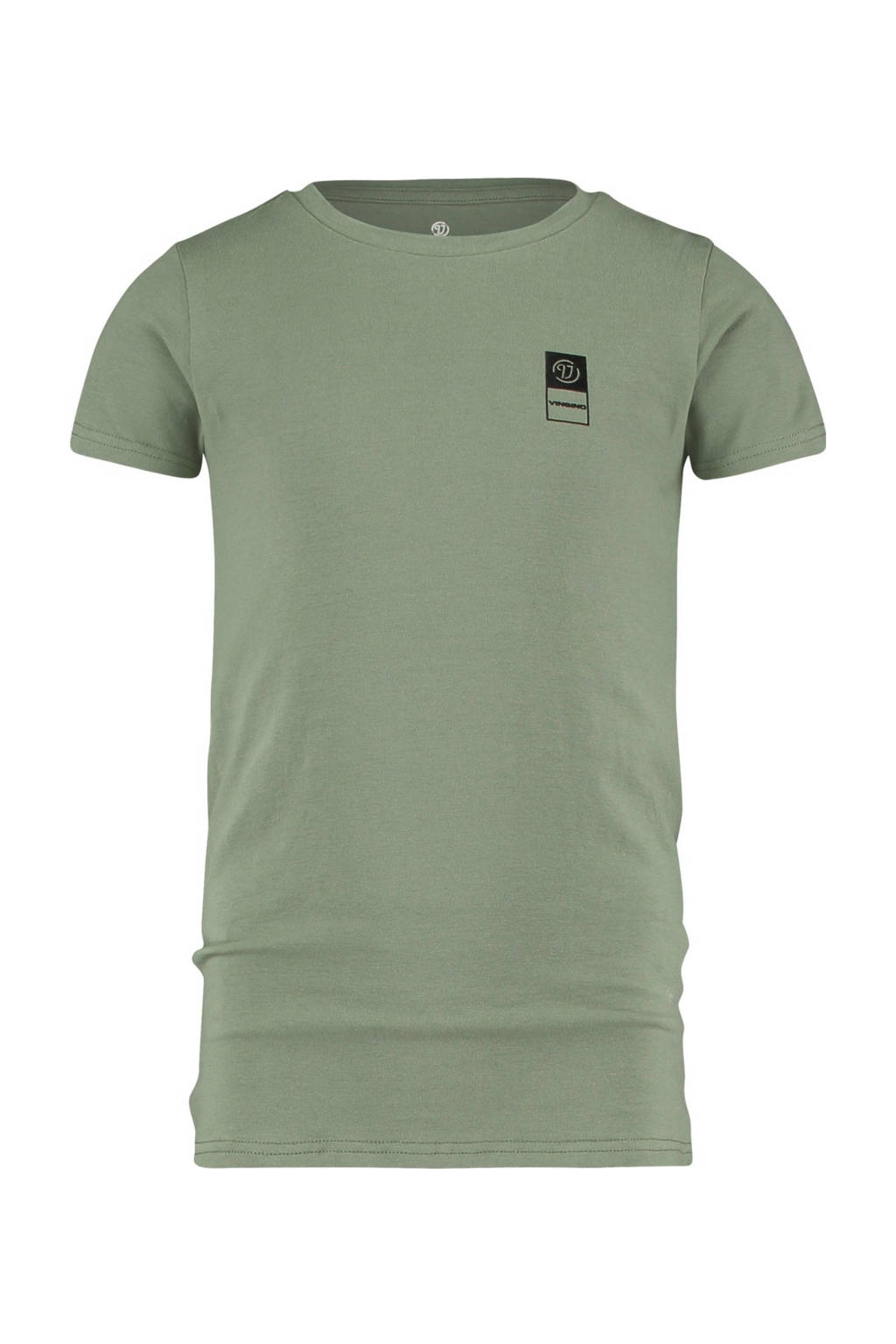 Vingino Essentials basic T-shirt licht army groen, Licht army groen