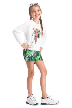 sweater Nareva met printopdruk wit