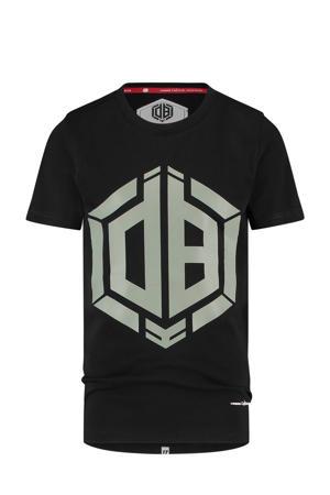 T-shirt Hanios met logo zwart