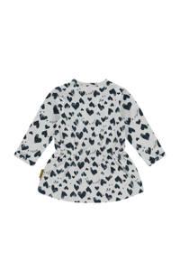 Vingino baby jurk Pippa met hartjes donkerblauw/wit, Donkerblauw/wit