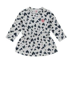 baby jurk Pippa met hartjes donkerblauw/wit
