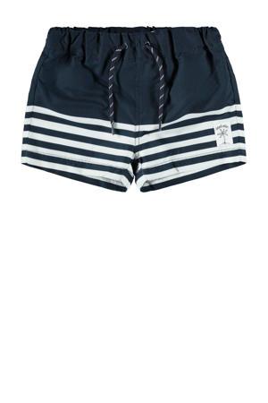zwemshort Zimbal met strepen donkerblauw/wit