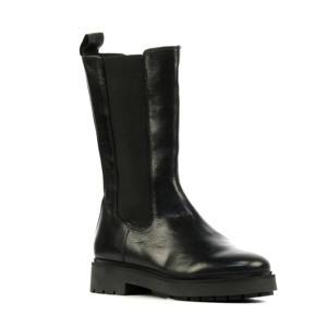 5510069  leren chelsea boots zwart