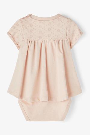 baby newborn jurk met romper zalm