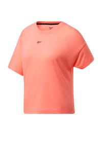 Reebok Training sport T-shirt koraalrood, Koraalrood
