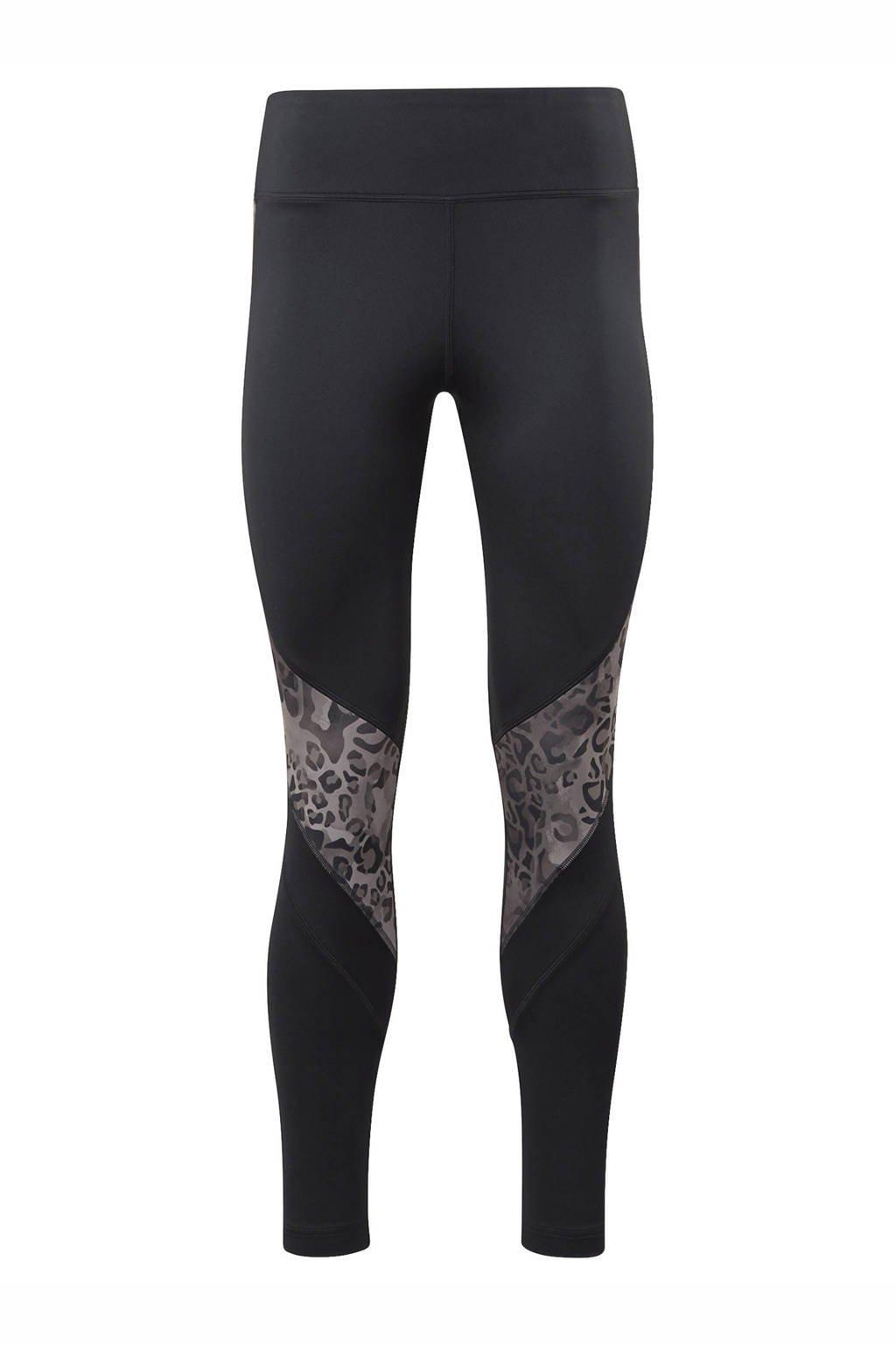 Reebok Training sportbroek zwart/zand, Zwart/zand