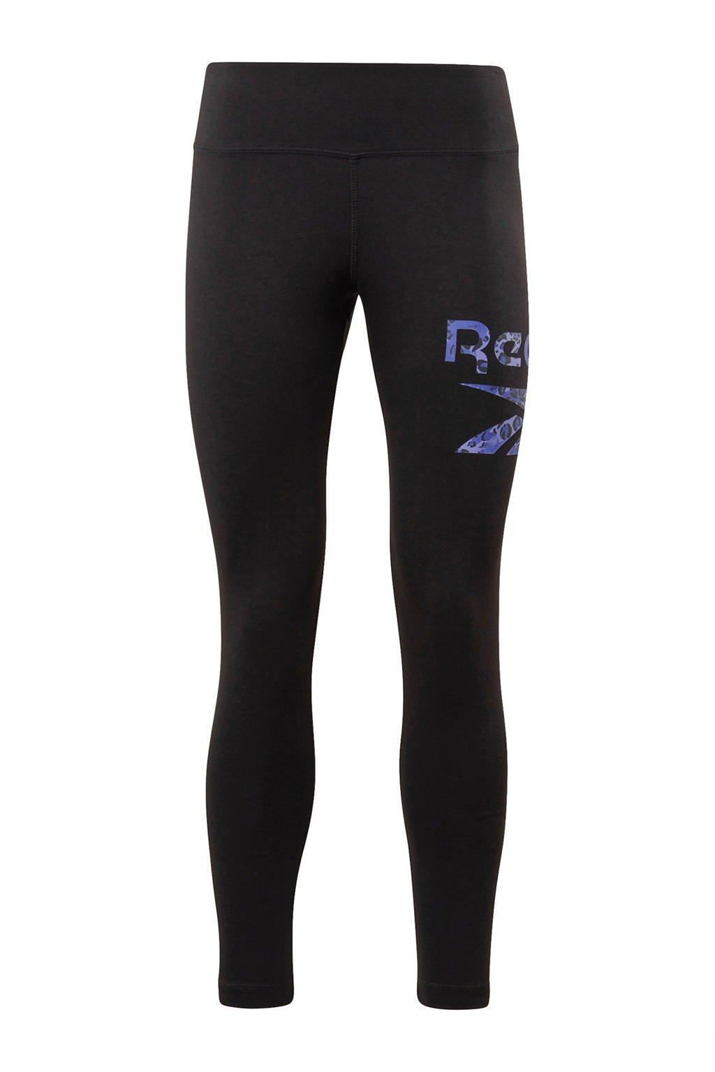 Reebok Training 7/8 sportlegging zwart/paars, Zwart/paars