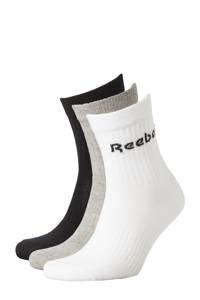 Reebok Training sokken -  set van 3 grijs/zwart/wit, Grijs/zwart/wit