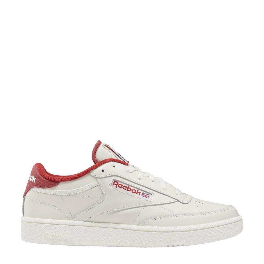 Reebok Classics Club C 85 sneakers ecru/donkerrood/ecru