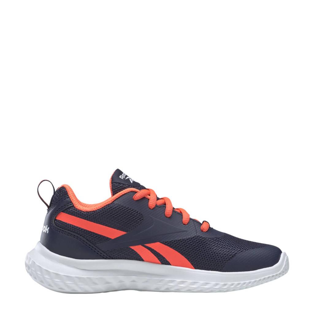 Reebok Training Rush Runner 3.0 sportschoenen donkerblauw/oranje/wit kids, Donkerblauw/oranje/wit