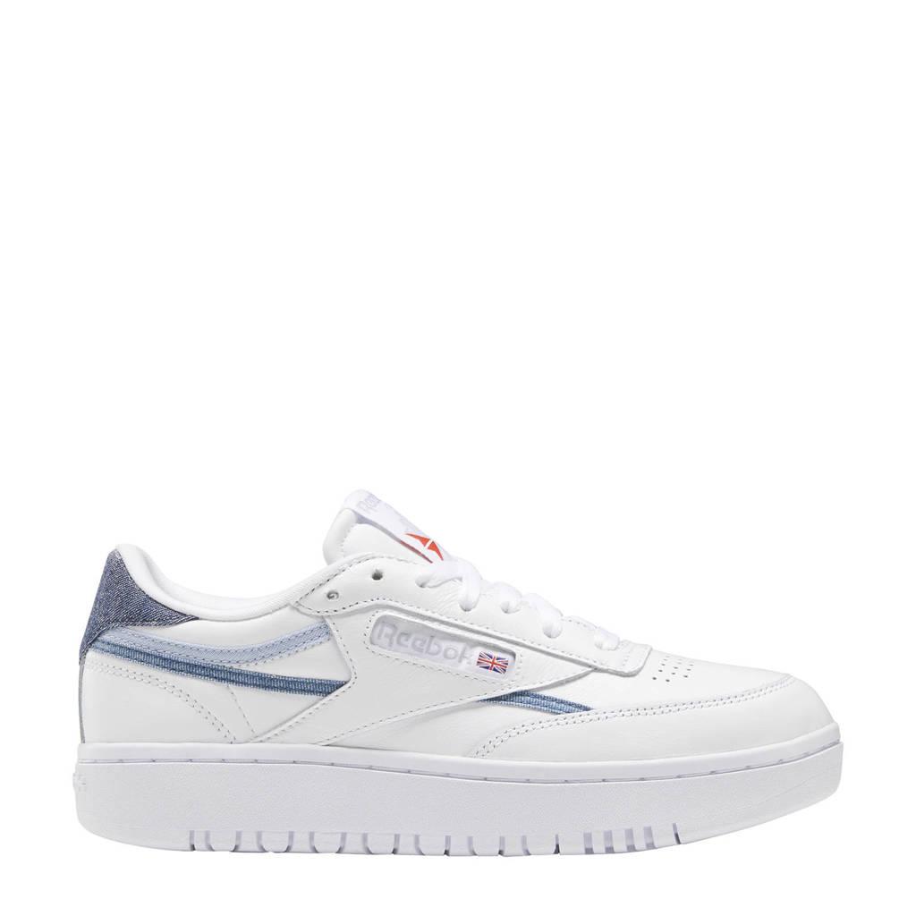 Reebok Classics Club C Double sneakers wit/grijs/rood, Wit/grijs/rood