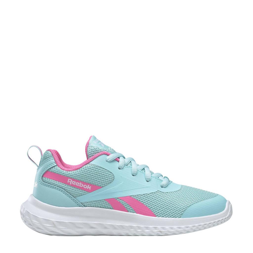 Reebok Training Rush Runner 3.0 hardloopschoenen lichtblauw/roze/wit, Lichtblauw/roze/wit