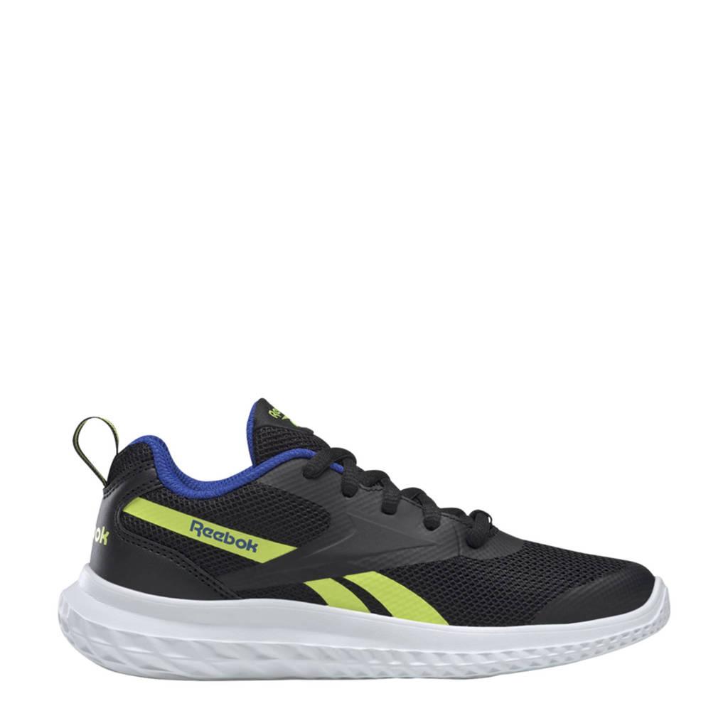 Reebok Training Rush Runner 3.0 sportschoenen zwart/geel/blauw kids, Zwart/geel/blauw