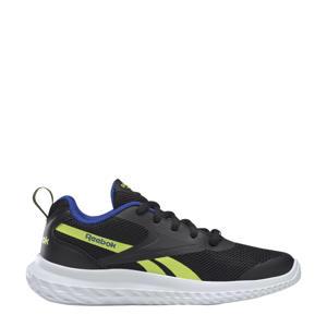 Rush Runner 3.0 sportschoenen zwart/geel/blauw kids