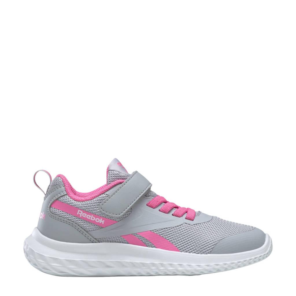 Reebok Training Rush Runner 3.0 sportschoenen grijs/roze/wit kids, Grijs/roze/wit