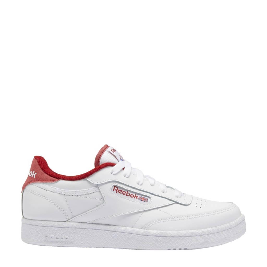 Reebok Classics Club C 85 sneakers wit/donkerrood/wit