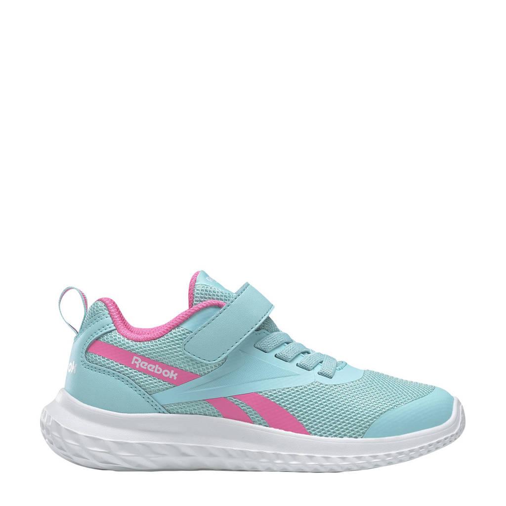 Reebok Training Rush Runner 3.0 hardloopschoenen lichtblauw/roze/wit kids, Lichtblauw/roze/wit