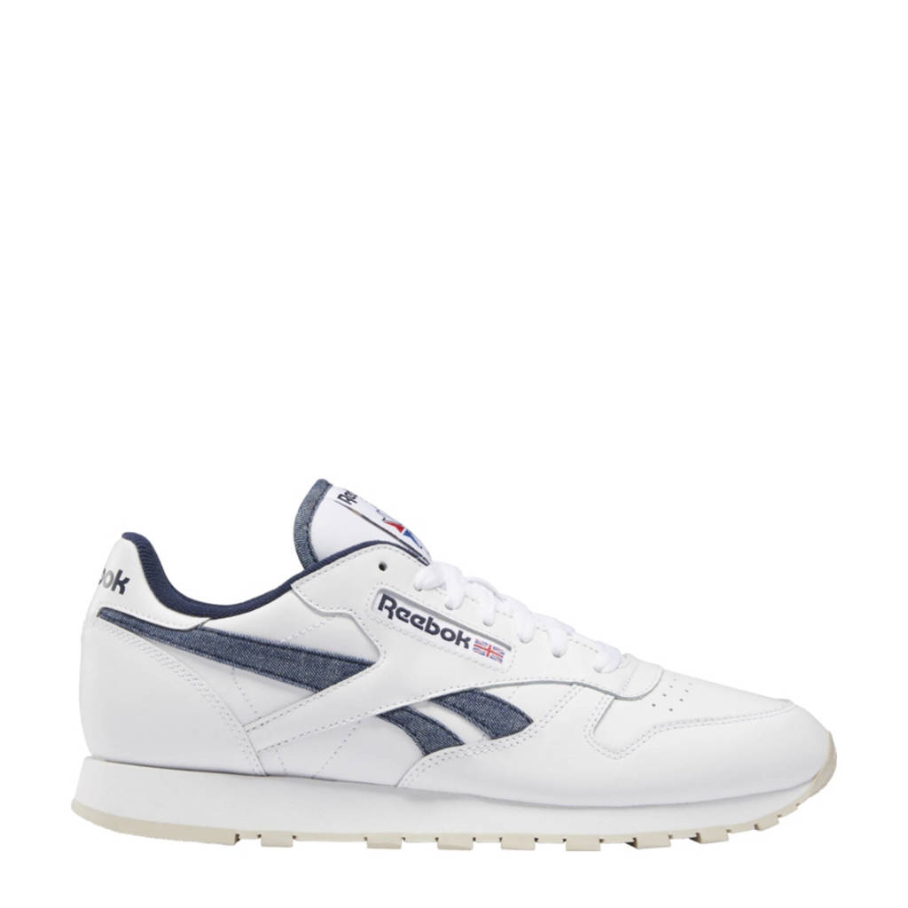 Reebok Classics Classic Leather  sneakers wit/donkerblauw/zand, Wit/donkerblauw/zand