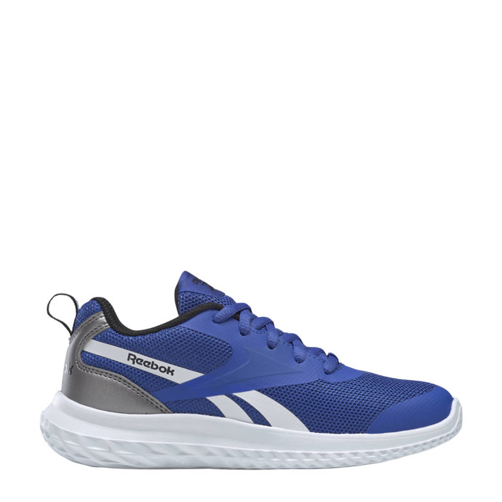 Reebok Training Rush Runner 3.0 sportschoenen donkerblauw/oranje/wit kids, Blauw/Zwart/Grijs