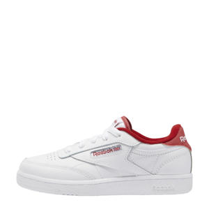 Club C 85 sneakers wit/donkerrood/wit