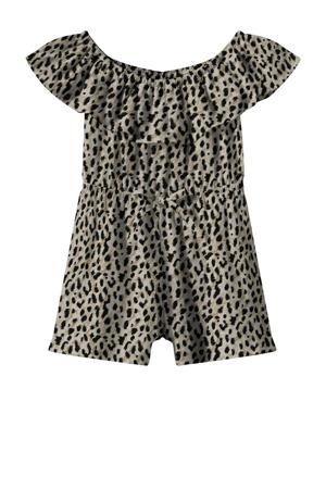 jumpsuit Vinaya van gerecycled polyester bruin/zwart