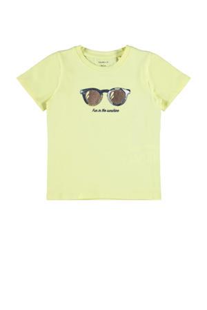 T-shirt Summer met biologisch katoen geel