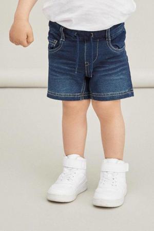 jeans bermuda Ryan met biologisch katoen dark denim