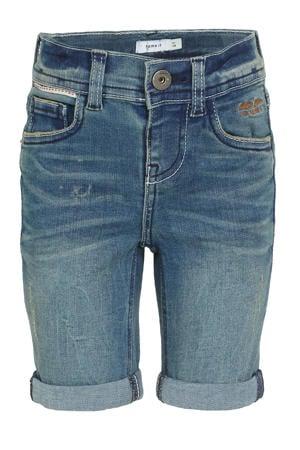 slim fit jeans bermuda Theo stonewashed