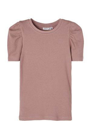 T-shirt Kabexi met biologisch katoen oudroze