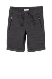 NAME IT KIDS gemêleerde sweatshort Scott antraciet, Antraciet