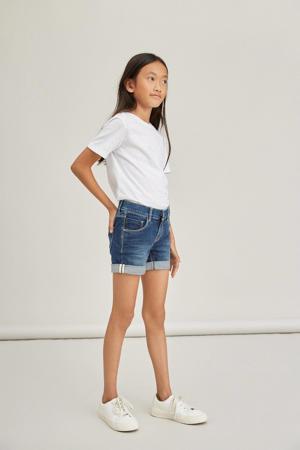 jeans short Salli met biologisch katoen dark denim