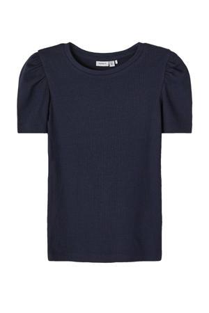 T-shirt Kabexi met biologisch katoen donkerblauw